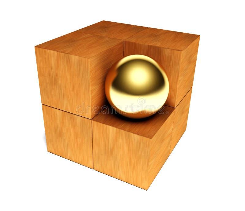 3d puzzle, symbole de l'individualisme image libre de droits