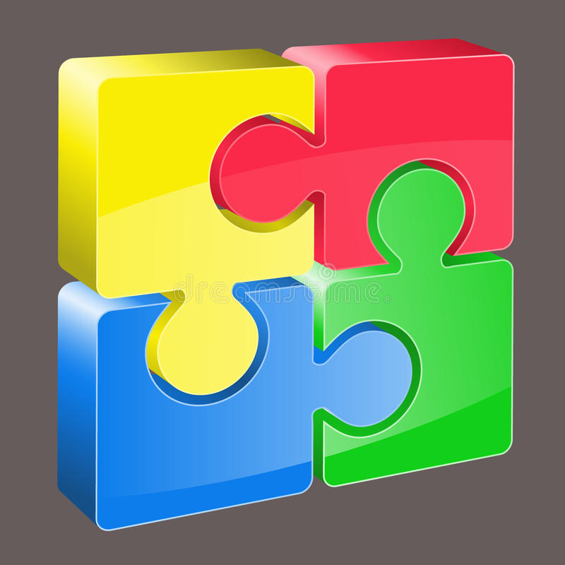 Free 3d Puzzle Vector Royalty Free Stock Photos - 10764468