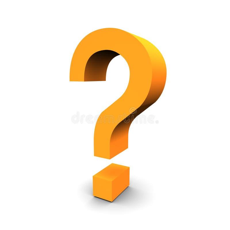 3d pytanie symbol royalty ilustracja