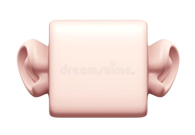 Download 3D que obstrui a orelha ilustração stock. Ilustração de saúde - 26519630