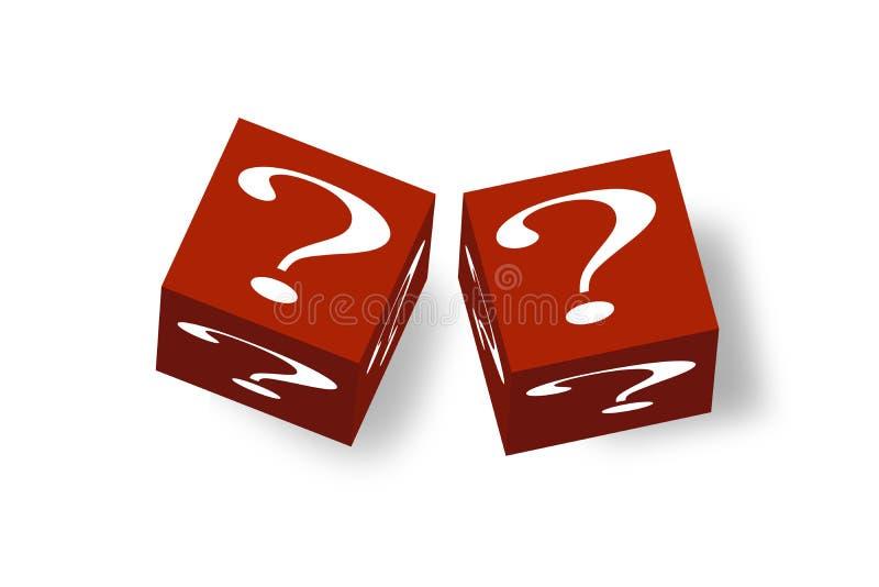 3D Question Cubes Stock Photos