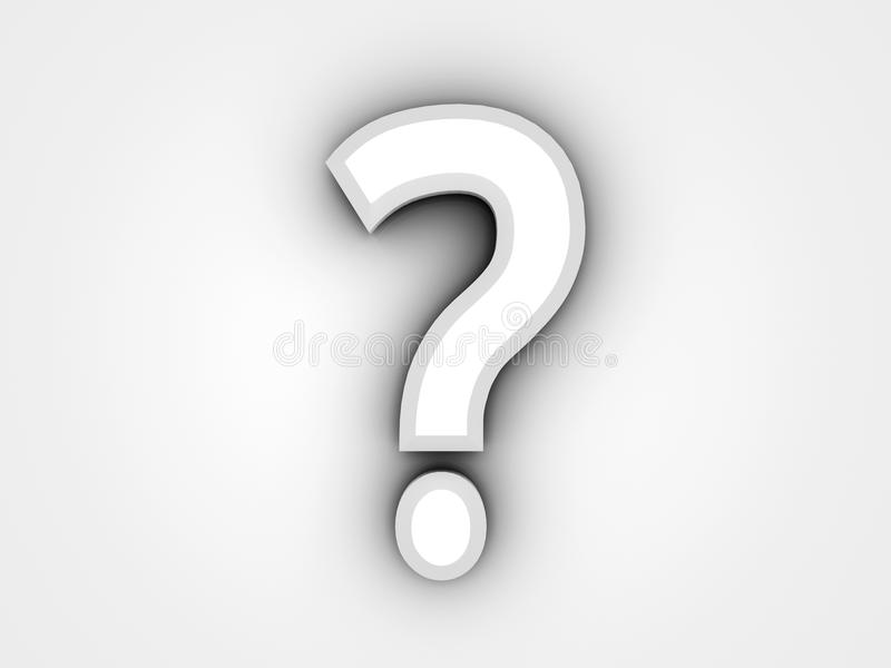 3D Question Mark royalty free stock photography