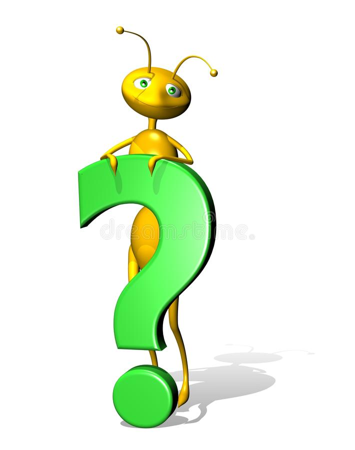 Free 3d Question Mark With Little Ant Royalty Free Stock Photos - 14246058