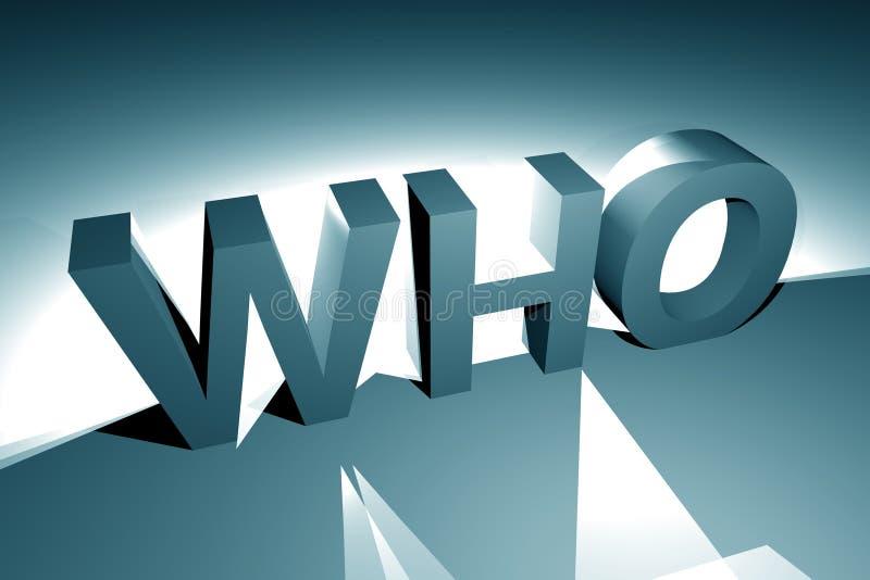 3D qui marque avec des lettres illustration libre de droits