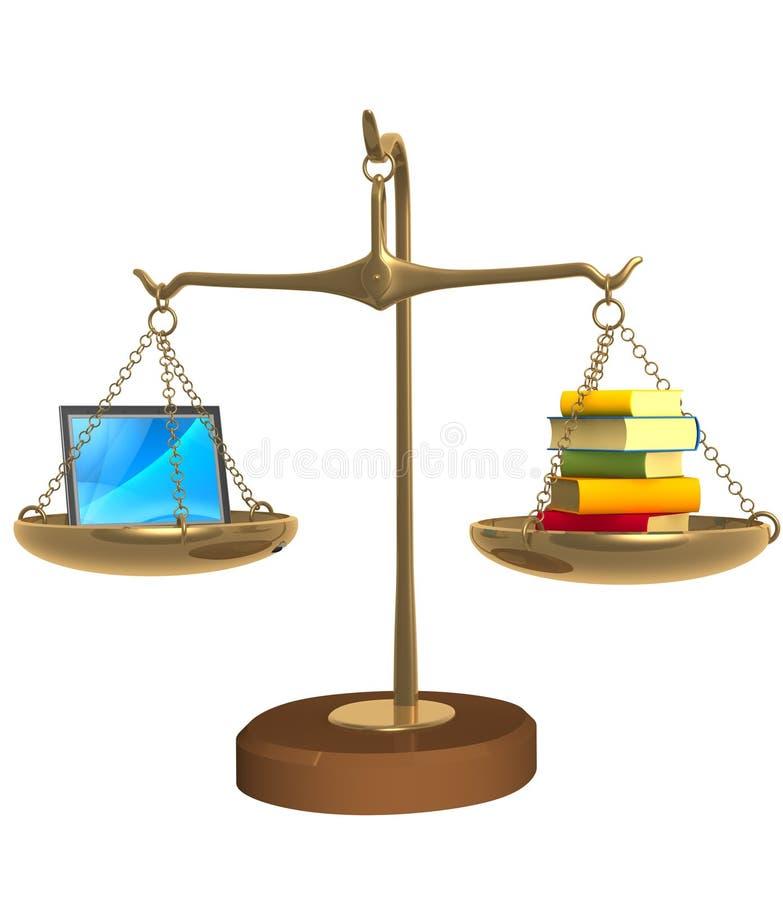 3d réserve des échelles d'ordinateur portatif de cuvettes illustration libre de droits
