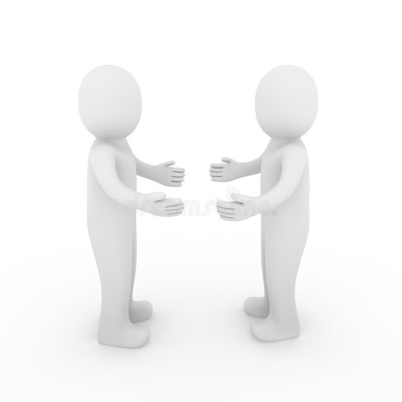 3d ręki cześć istoty ludzkiej powitanie ilustracja wektor