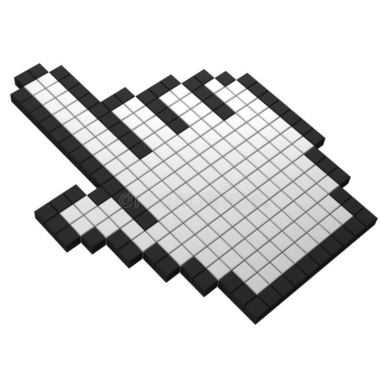 3d ręki ikony piksel royalty ilustracja