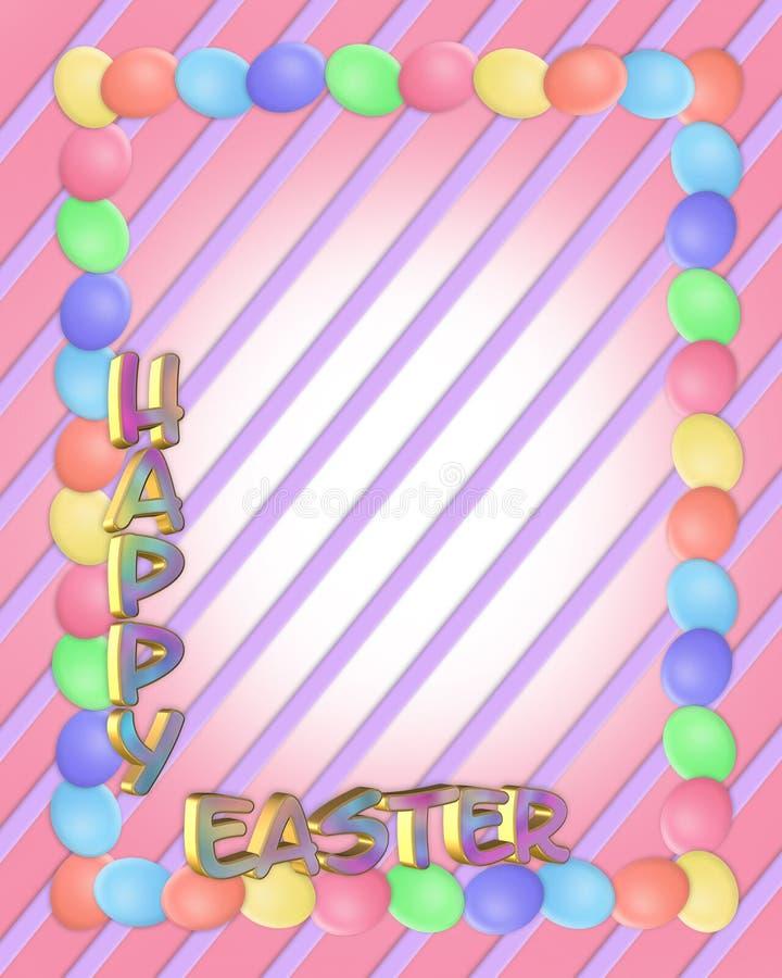 Download 3d Rabatowy Easter Jajek Tekst Ilustracji - Ilustracja złożonej z greenbacks, lampasy: 13332027