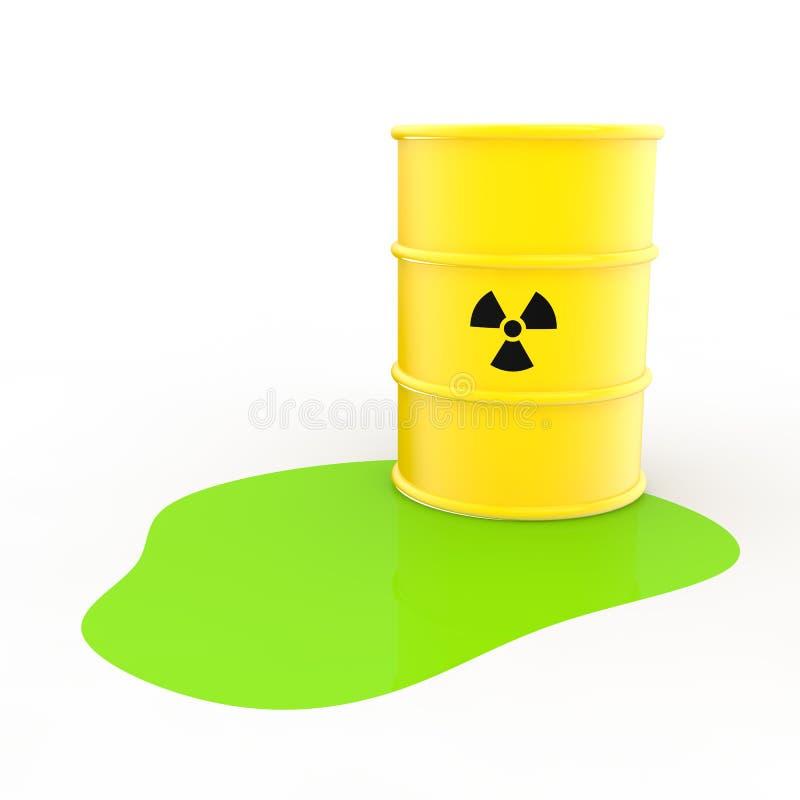 Free 3d Radiation Symbol Barrel And Green Liquid Stock Photos - 58328063