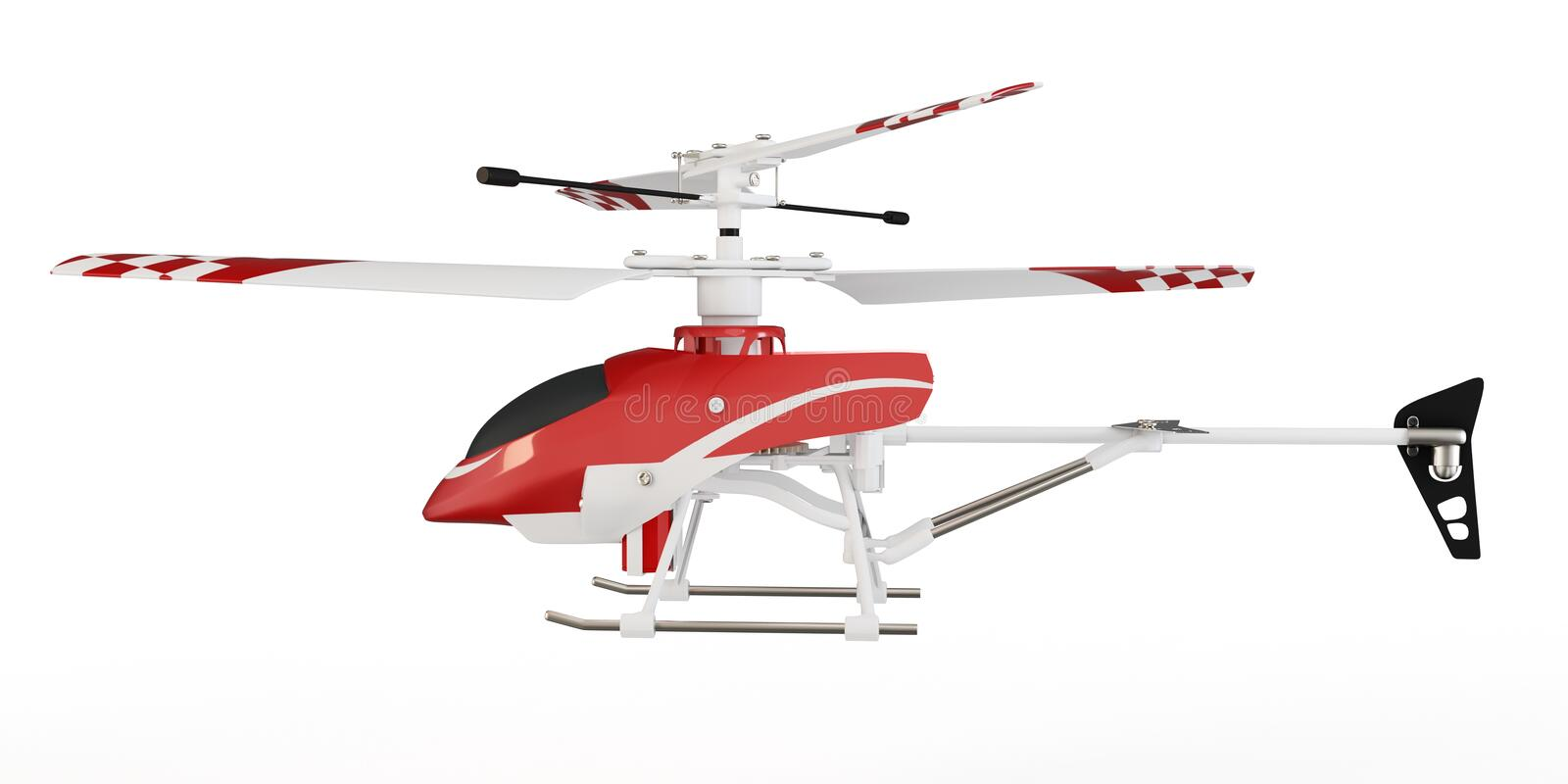 3d radio controlled helicopter model vector illustration