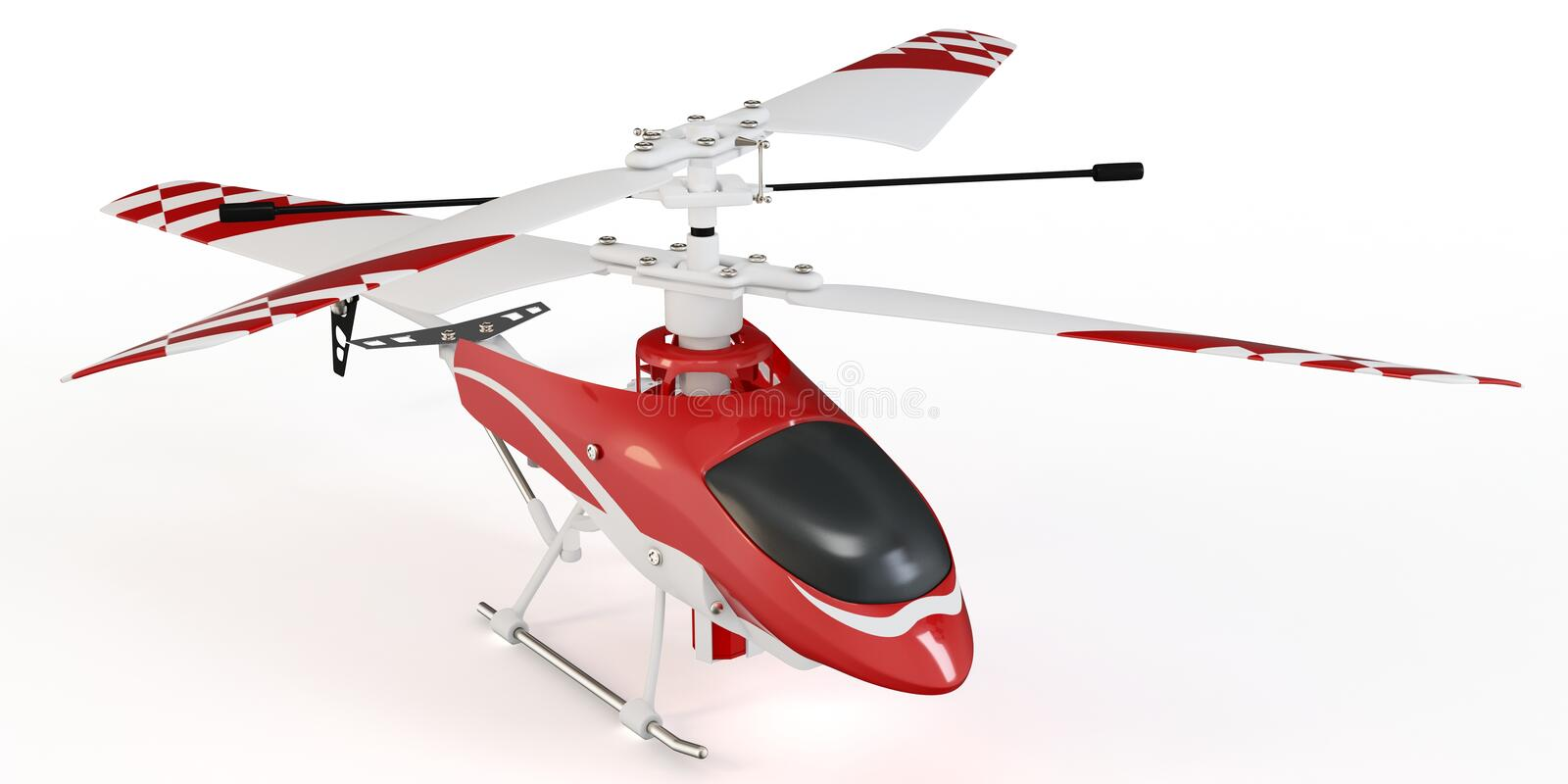 3d radio controlled helicopter model royalty free illustration
