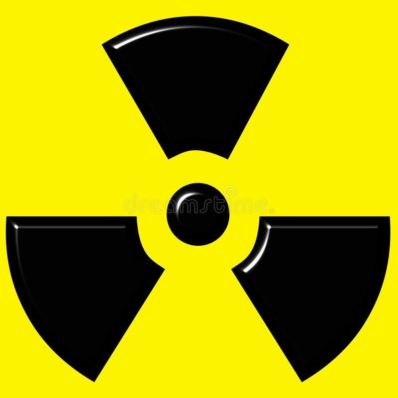 3D Radioactive Sign stock illustration