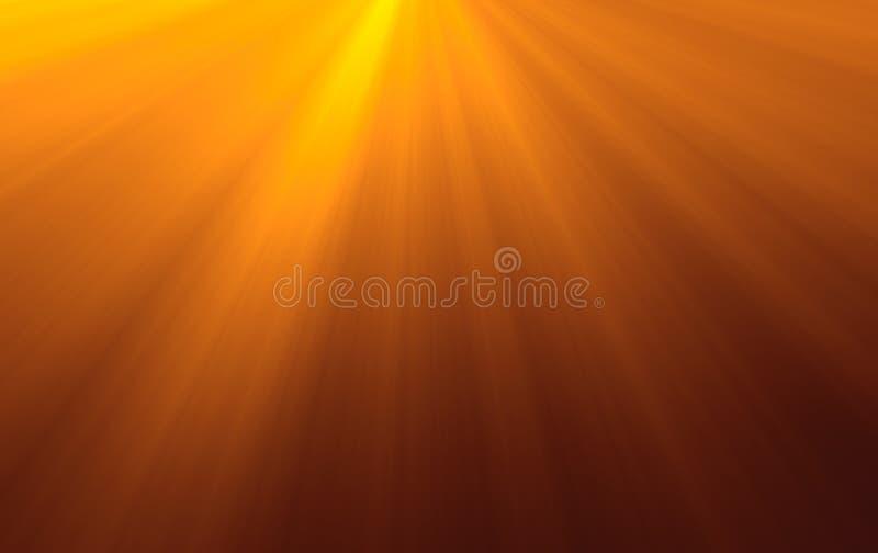 3D- Raggi di Sun illustrazione vettoriale