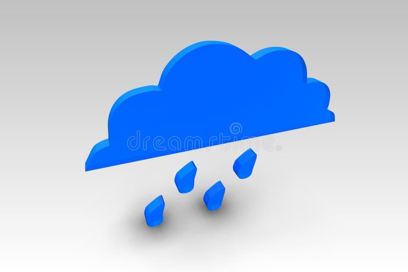 3d Rain Icon royalty free illustration