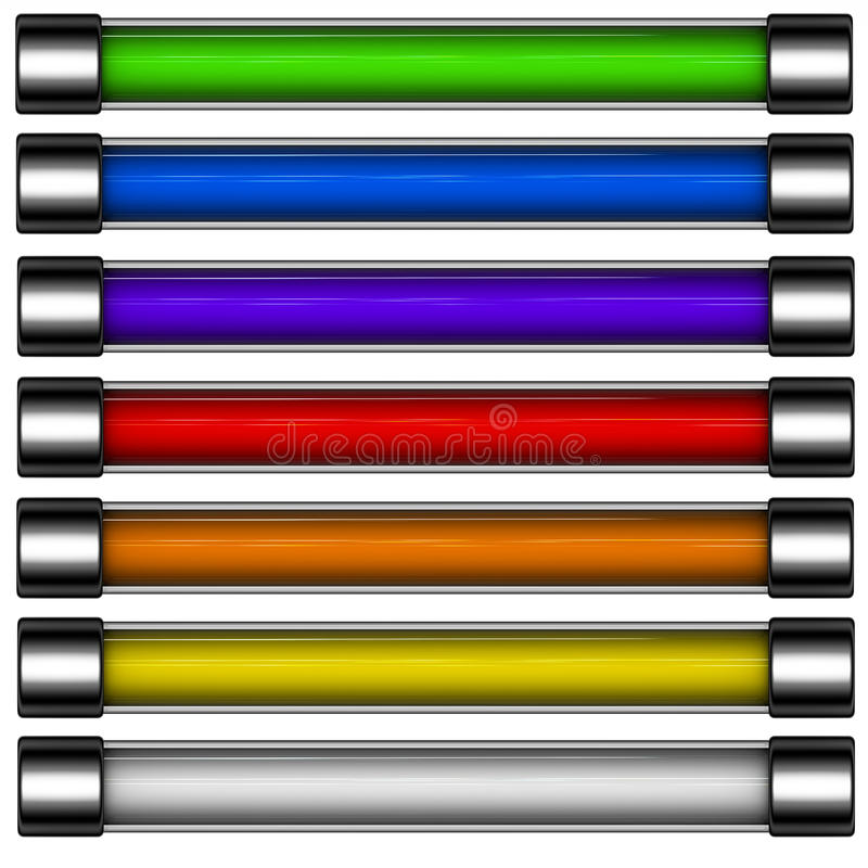 3d rainbow colored download button bar. 3d render of rainbow colored download button bar stock illustration