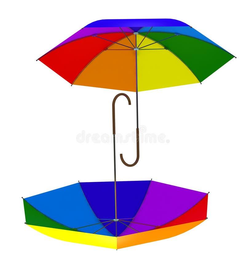 3d rainbow umbrella royalty free stock image