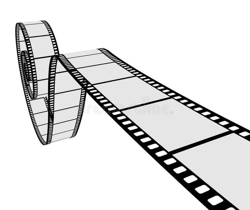 Download 3D realistic film strip stock vector. Image of advertise - 14117621