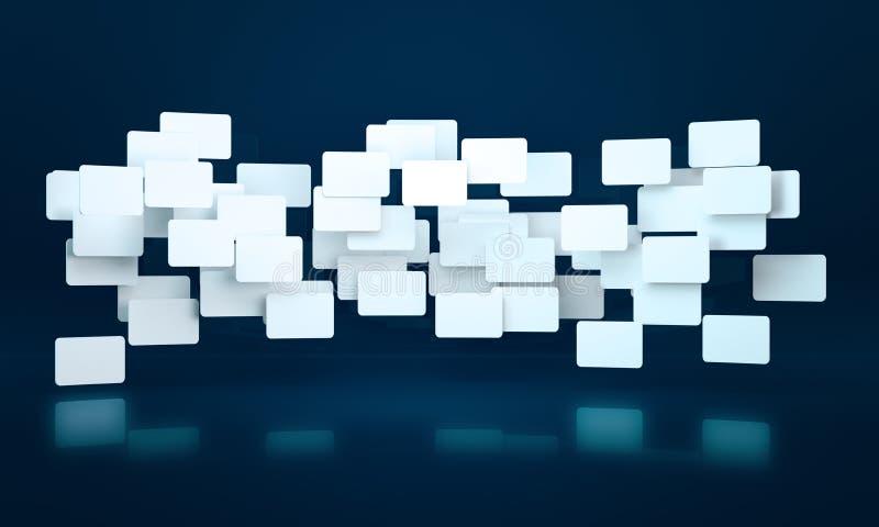 3D rechthoekbanners royalty-vrije illustratie
