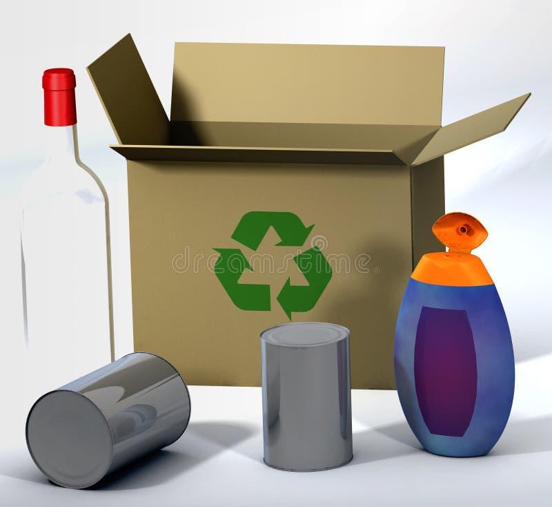 3d recicl a cena 2 ilustração do vetor