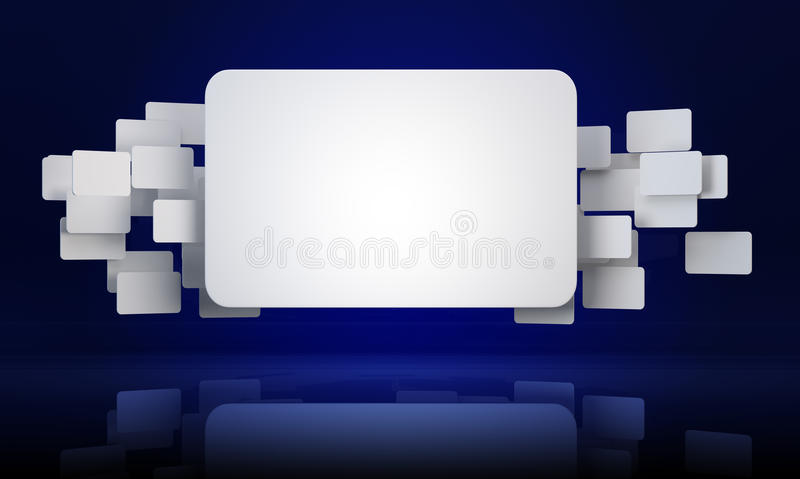 Download 3D rectangle banners stock illustration. Image of business - 24077427