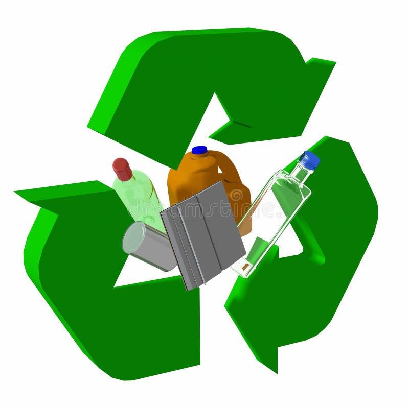 3d Recycing ilustração stock