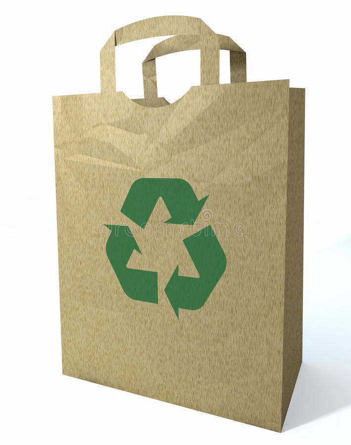 Download 3d Recycled Shopping Bag stock illustration. Illustration of grocery - 14036409