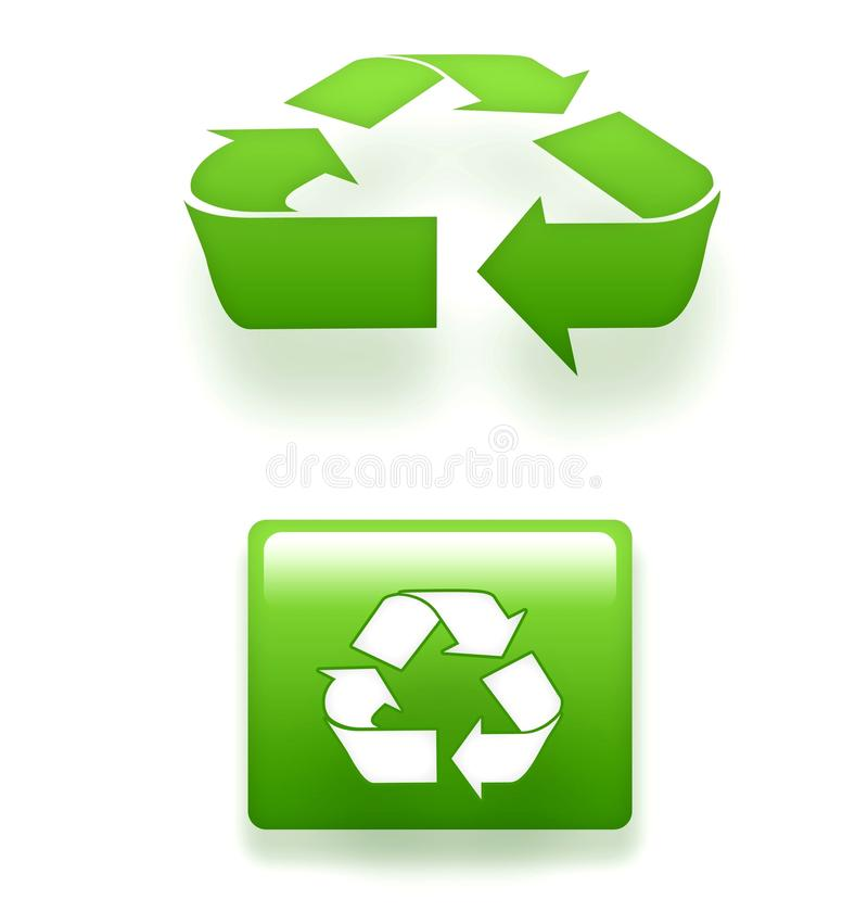 Free 3D Recycling Symbols Royalty Free Stock Photos - 12293358