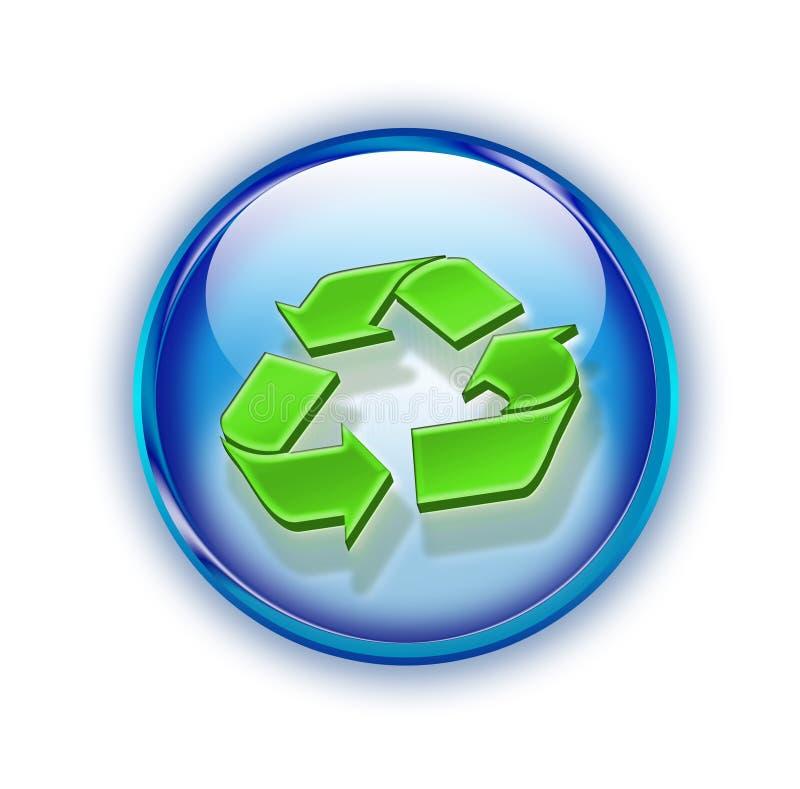 3d recyclingsembleem royalty-vrije illustratie