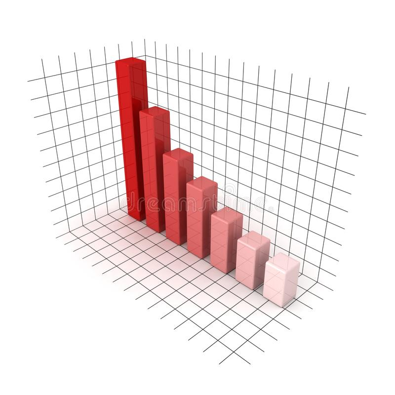 Download 3D Red Business Bar Chart Graph On White Stock Image - Image of concept, company: 24311925