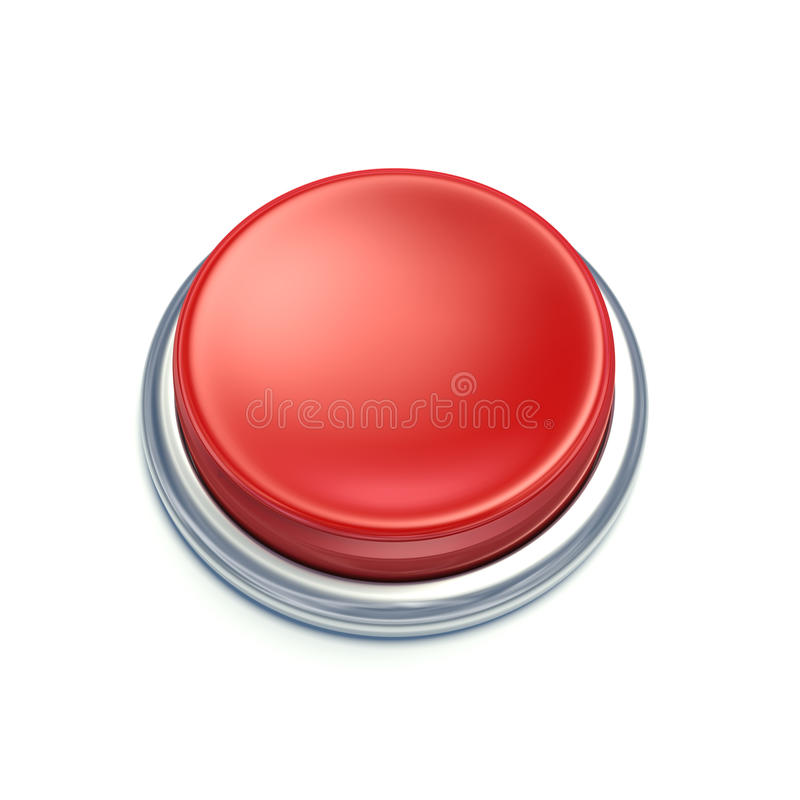 3d Red Button Royalty Free Stock Photos