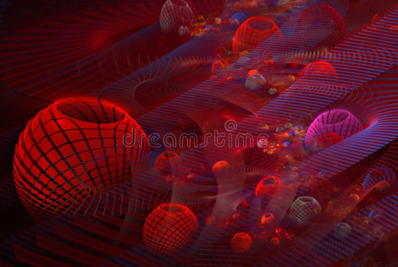 3D Red Cells royalty free stock photos