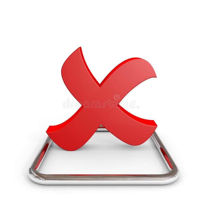Download 3D Red Cross Mark In Chrome Checkbox. Stock Illustration - Illustration: 23476469