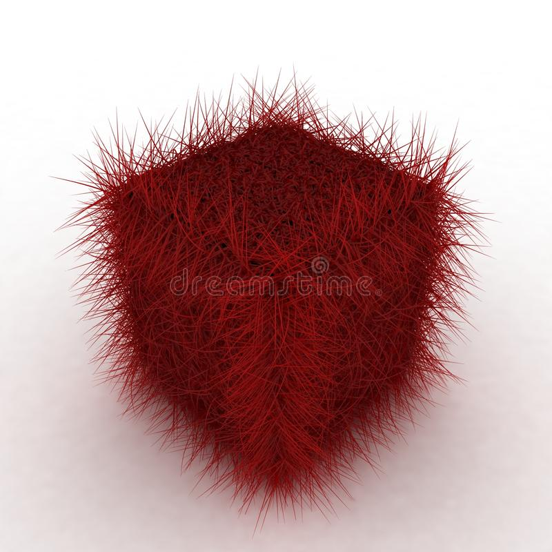 Download 3D Red Hairy Cube stock illustration. Illustration of perspective - 15166647