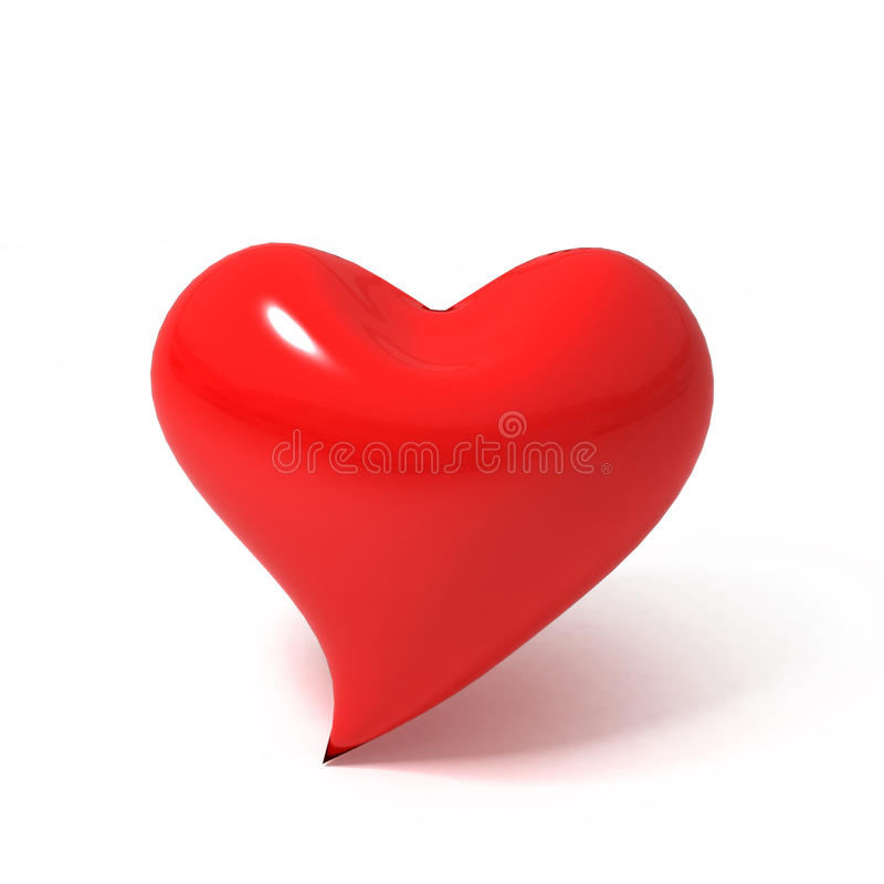 Free 3D Red Heart Stock Images - 15893644