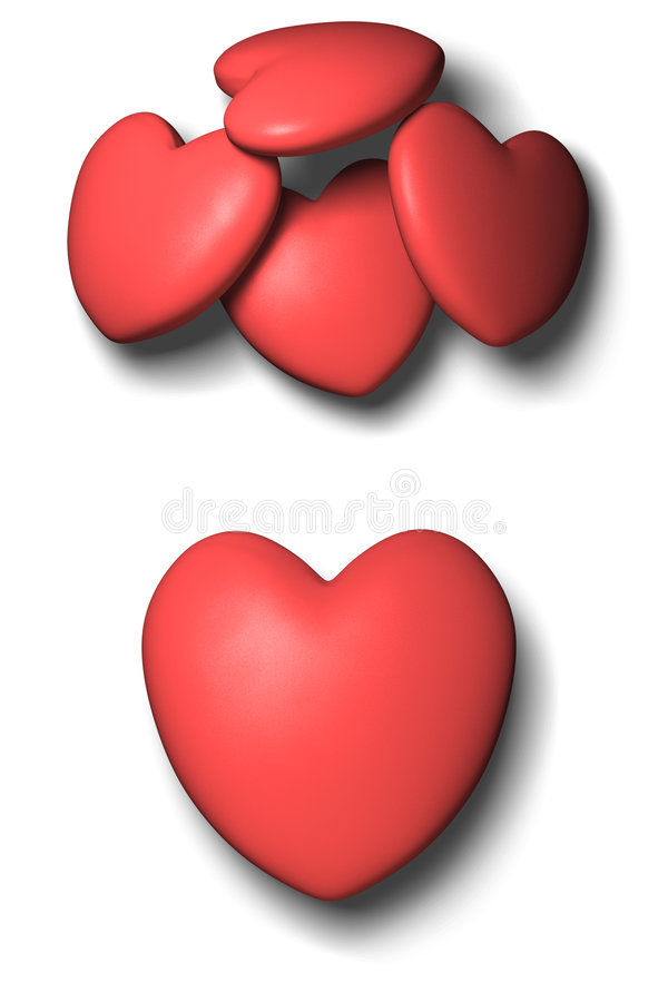 Free 3d Red Heart Royalty Free Stock Photos - 4055628