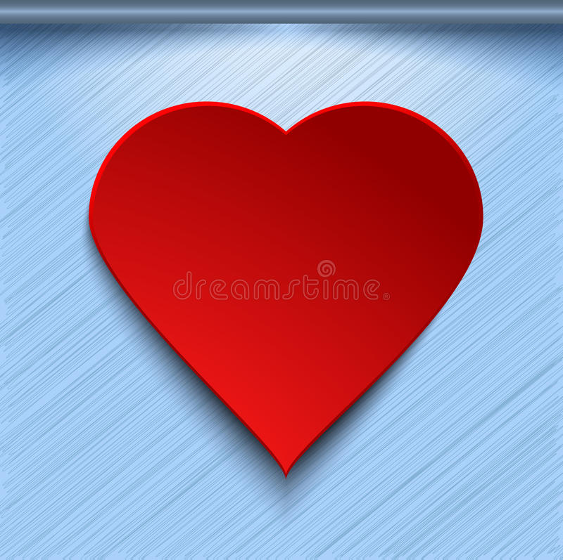 Free 3d Red Heart On Blue Background Stock Image - 36884671
