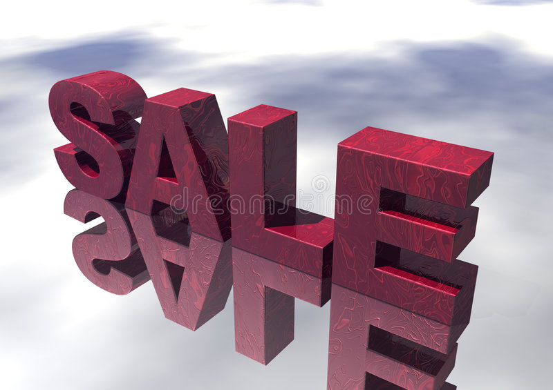 Download 3D Red Marble Sale Sign stock illustration. Image of percent - 2206928