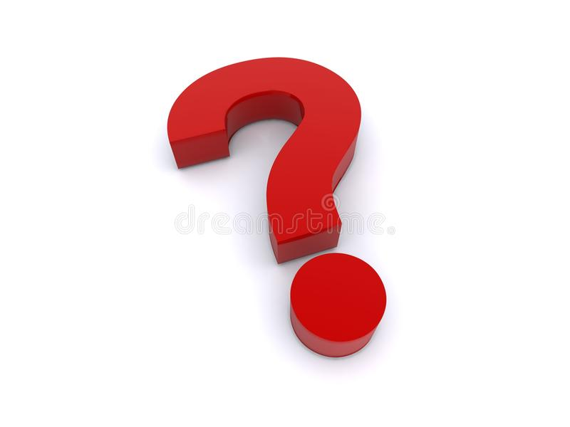 Download 3d red question mark stock image. Image of mark, illustration - 22878169