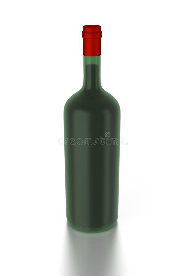 Download 3d red wine bottle stock illustration. Illustration of refreshment - 26048183