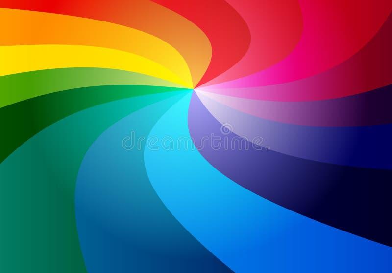 3D regenboogachtergrond vector illustratie