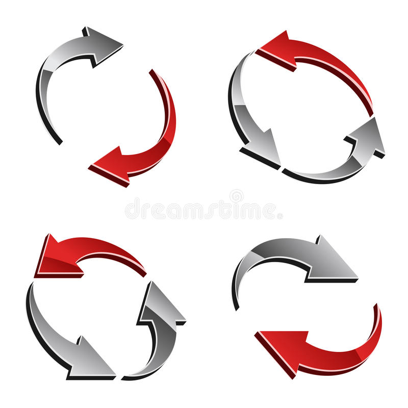 Download 3d reload arrows stock vector. Image of icon, motion - 24644824