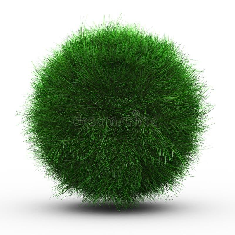 3d rendem da esfera da grama verde ilustração royalty free
