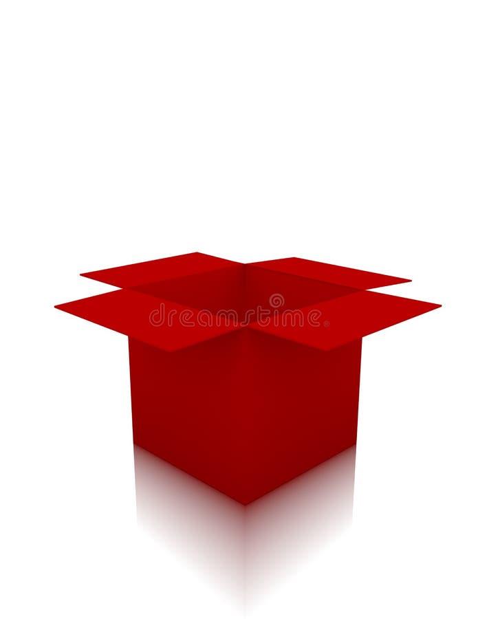 3d rendem de uma caixa vermelha vazia ilustração royalty free