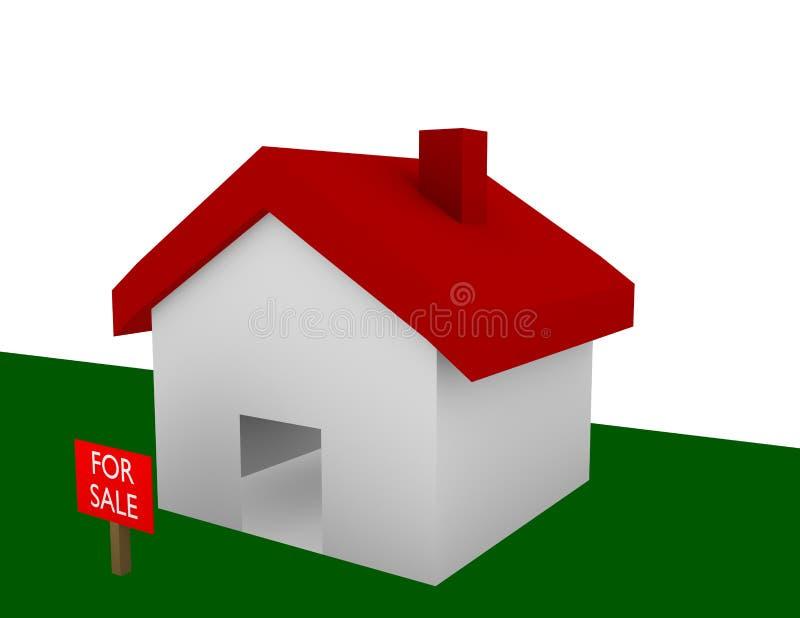 3d rendem de uma casa para a venda ilustração royalty free