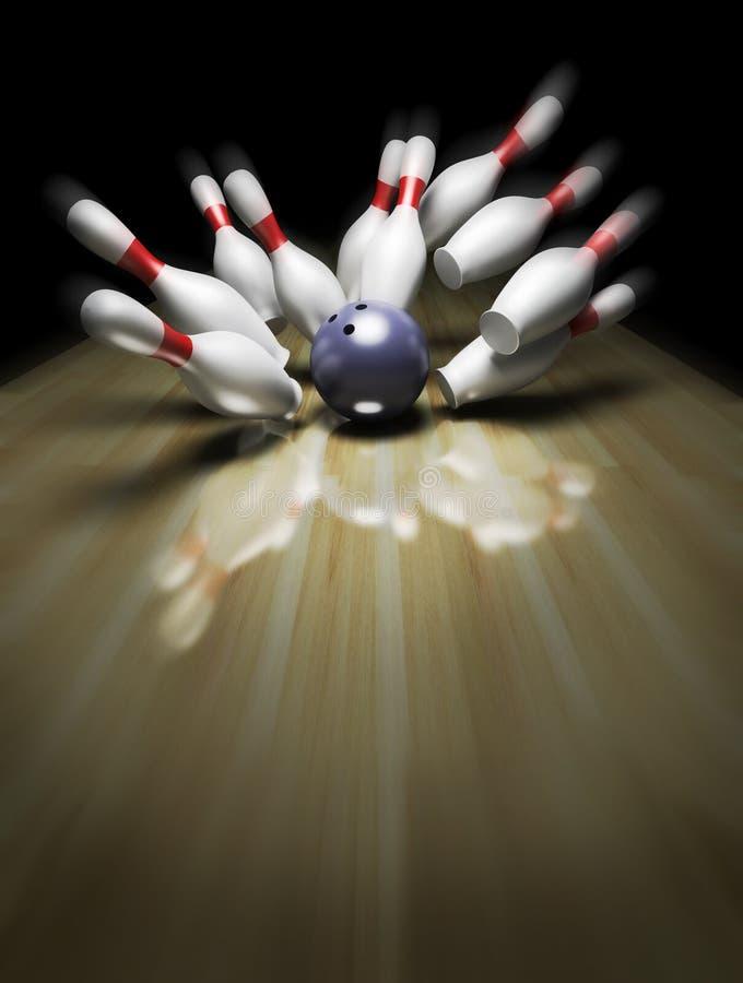 3d rendem de uma esfera de bowling ilustração do vetor