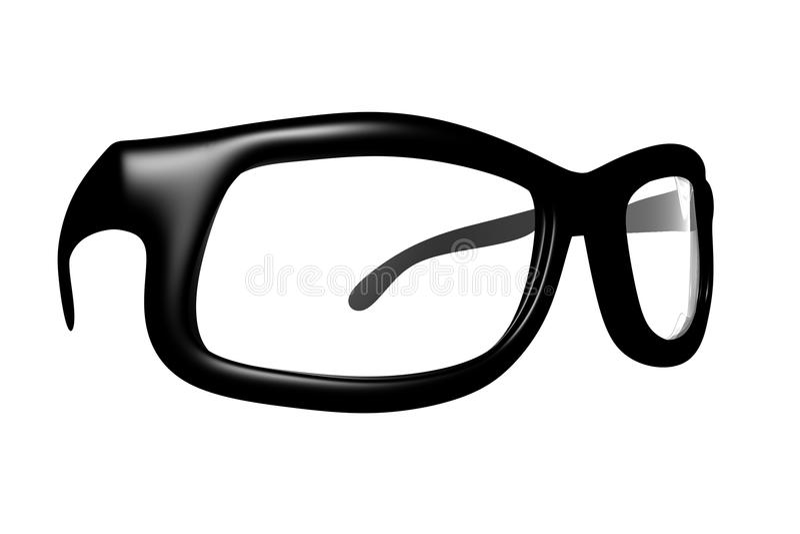 3D rendem dos vidros fotos de stock