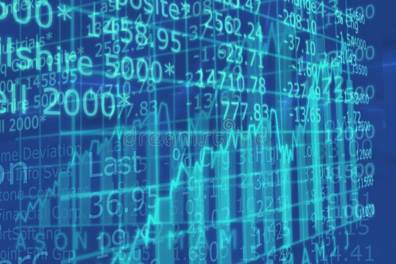 3d rendem o gráfico do mercado de valores de acção com ir acima seta