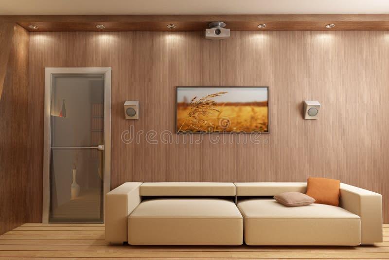 3D rendem o interior ilustração royalty free