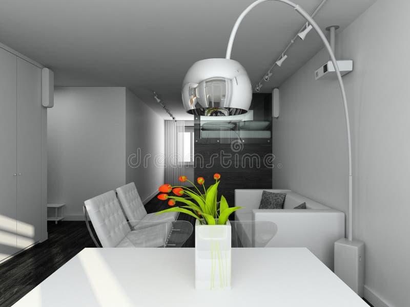 3d rendem o interior moderno fotos de stock