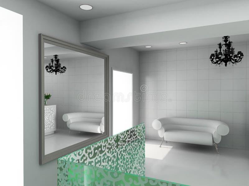 3D rendem o interior moderno da loja ilustração royalty free